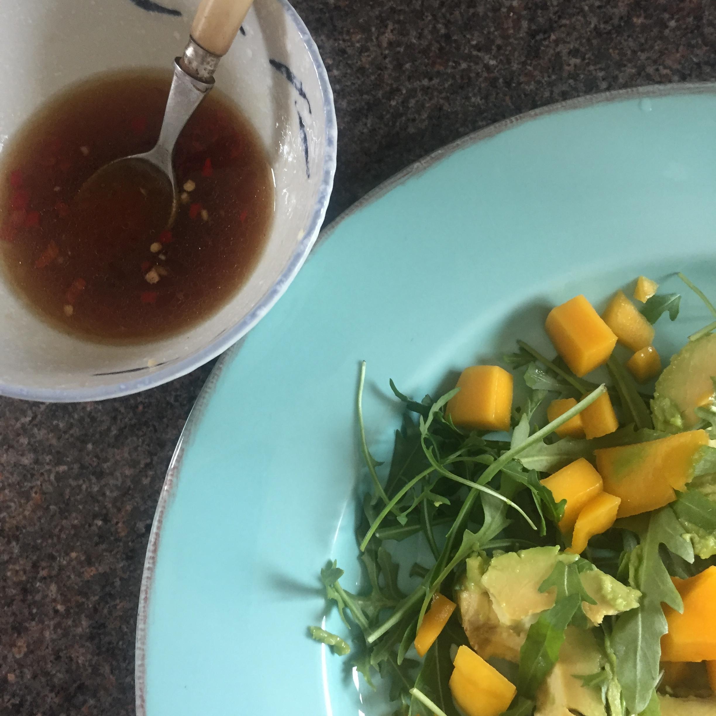 Rachel Redlaw steak mango avocado salad