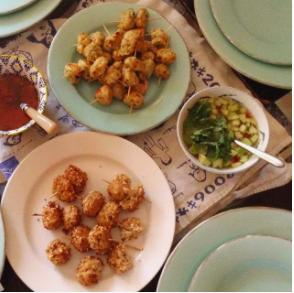 Rachel Redlaw tofu + mushroom balls