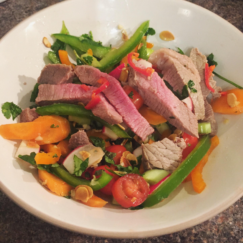 Rachel Redlaw Thai salad dressing rare beef salad