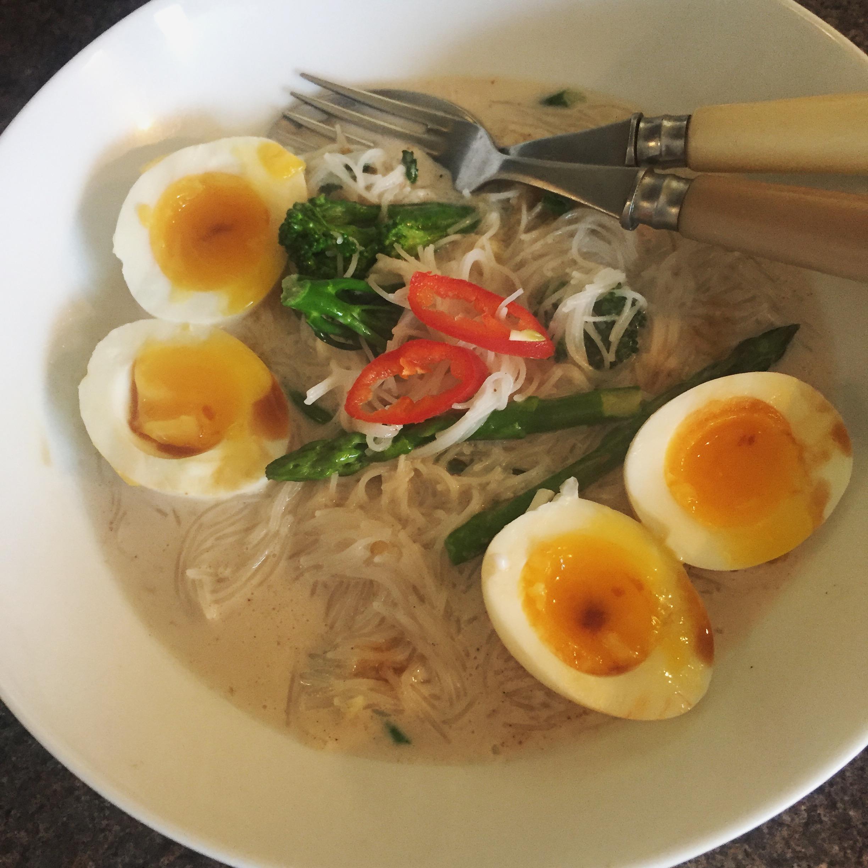 Rachel Redlaw coconut milk, eggs and noodles