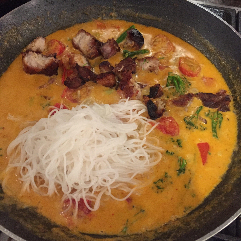 Rachel Redlaw crispy pork belly Thai red curry