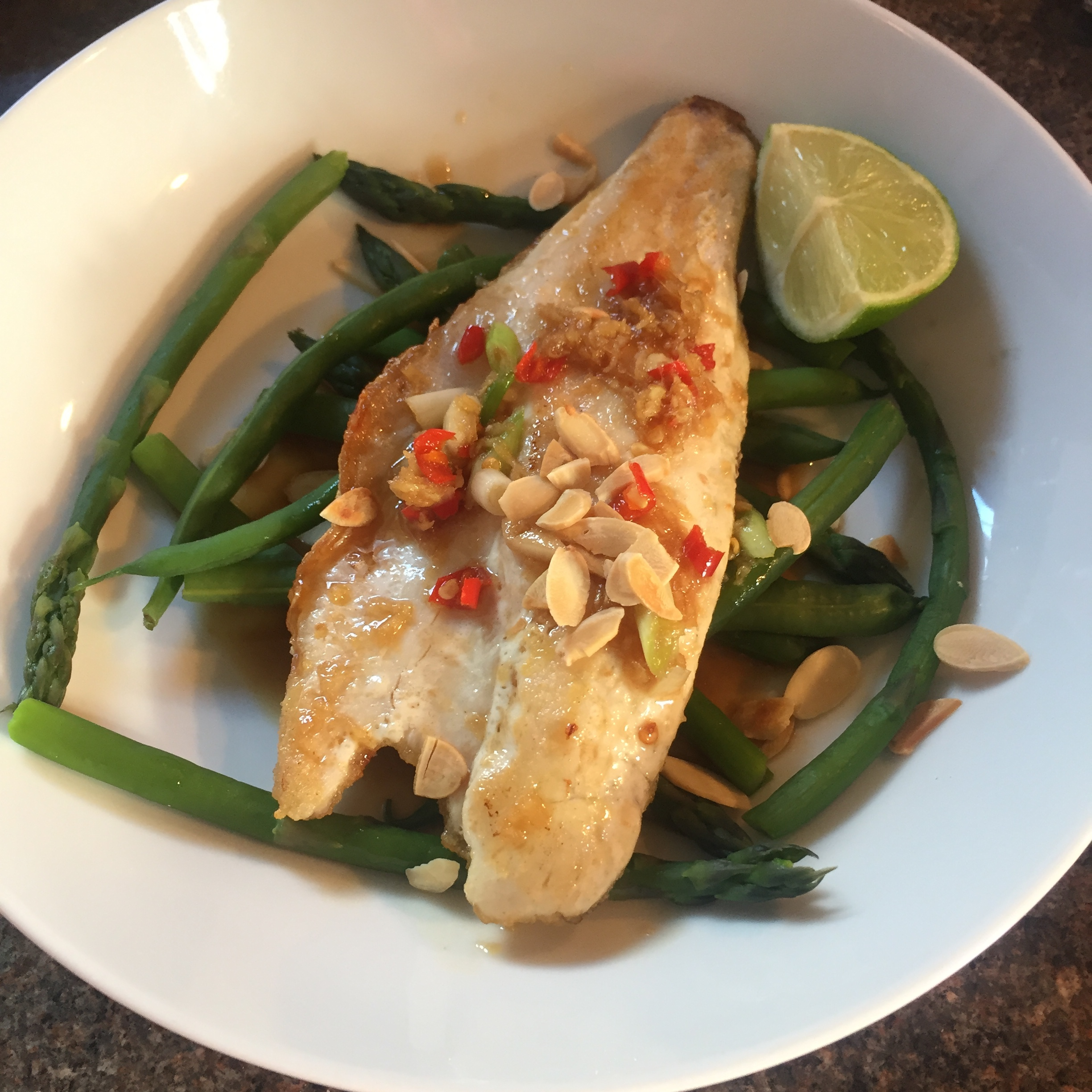 Rachel Redlaw ginger garlic chilli sea bass