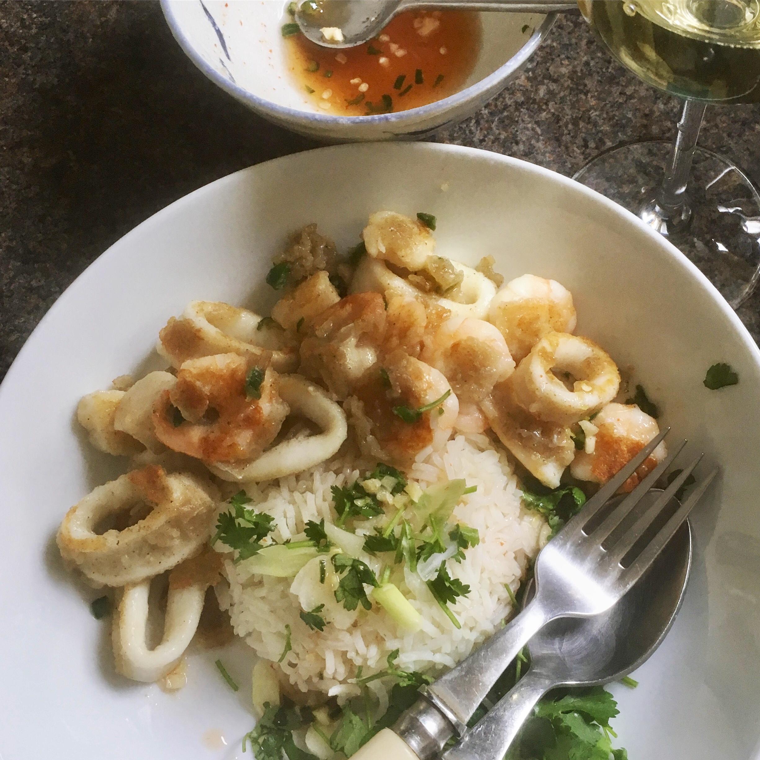 Rachel Redlaw crispy peppery seafood