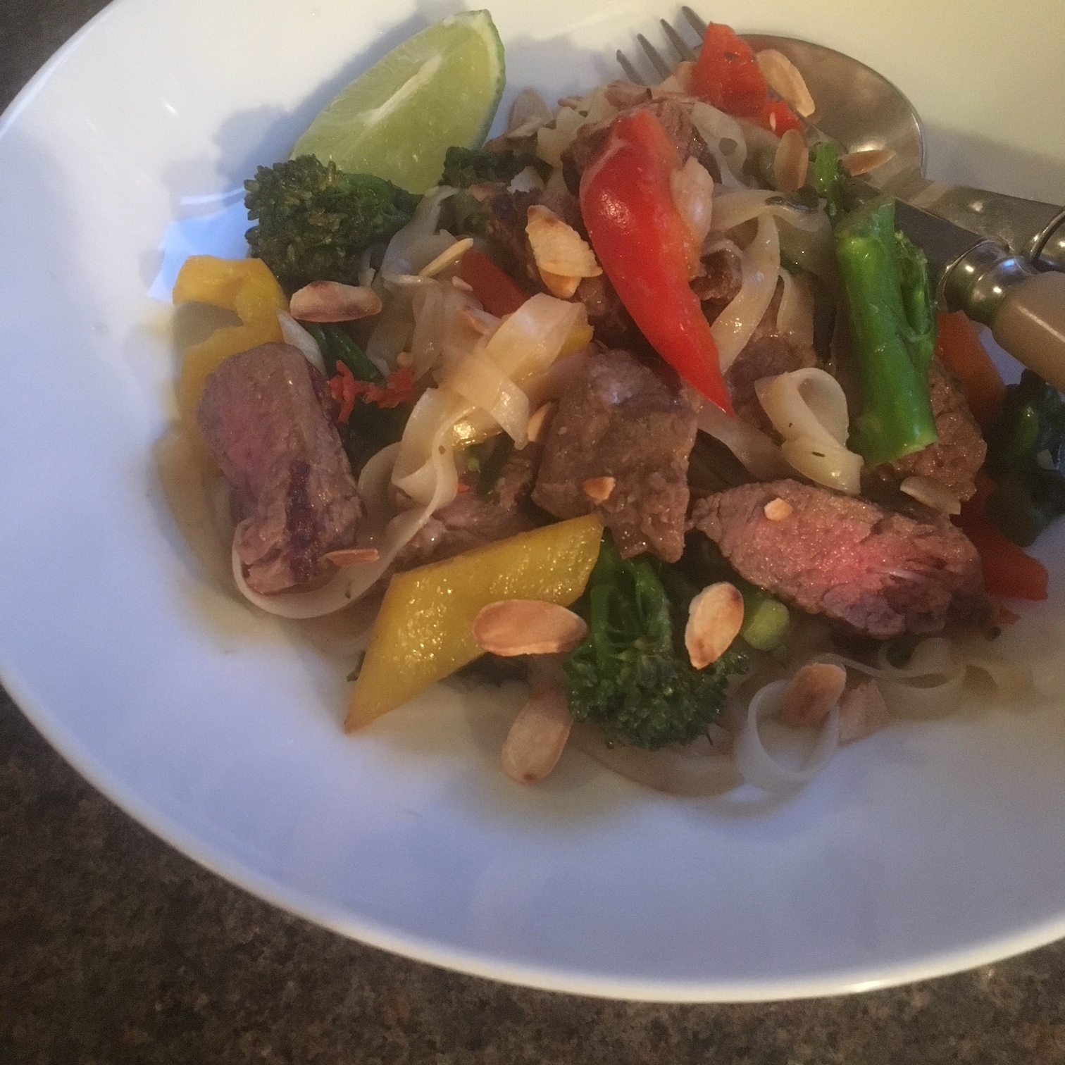 Rachel Redlaw green curry steak and noodles