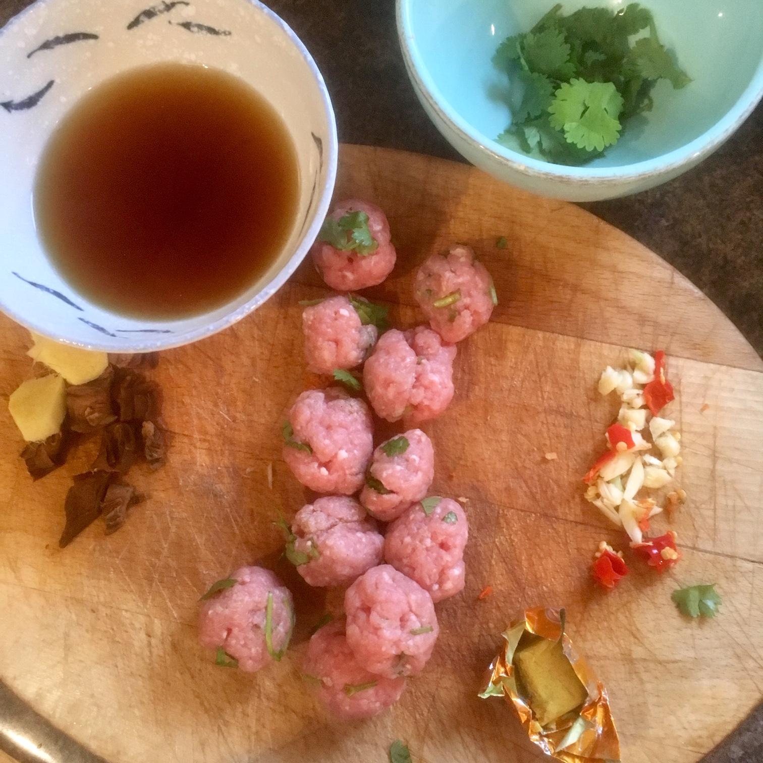 Rachel Redlaw: Vermicelli noodle soup with minced pork
