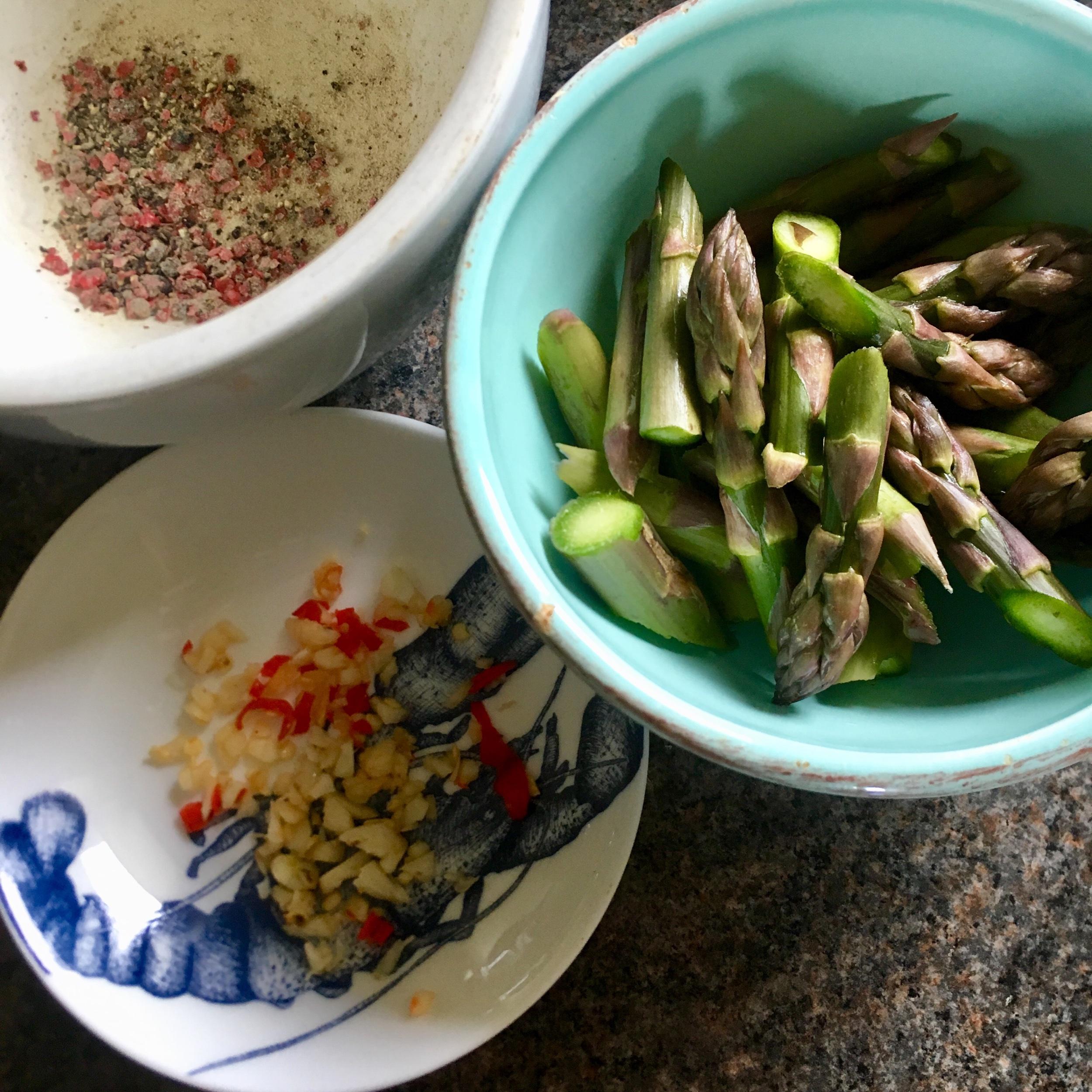 Rachel Redlaw peppery garlic asparagus