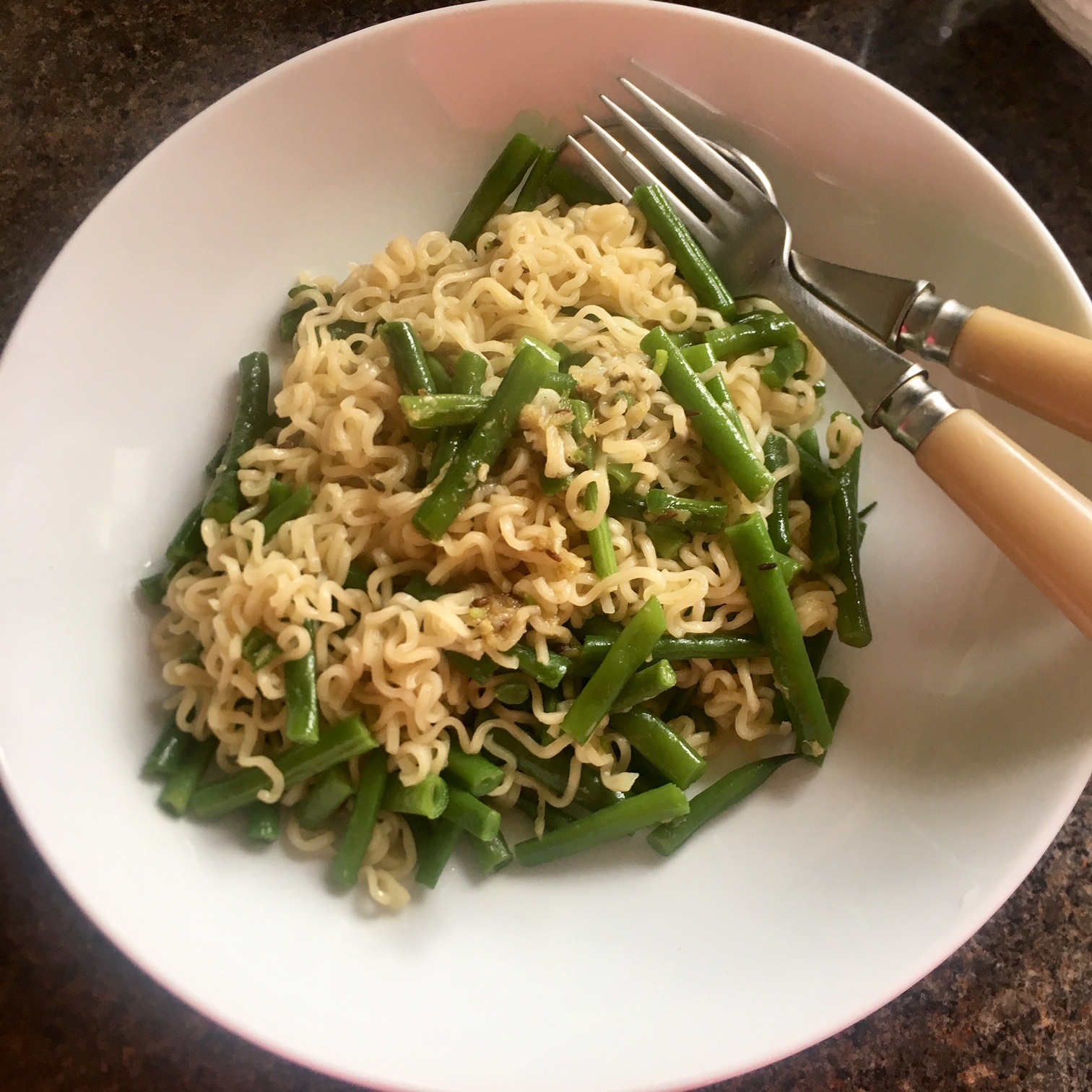 Rachel Redlaw Delhi-style green beans with ginger + green chilli