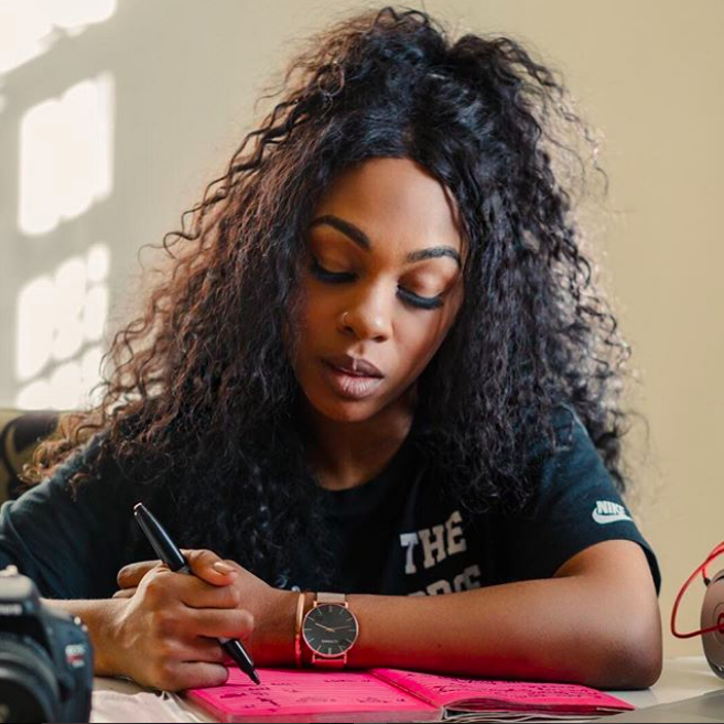 What you just read was a - sampling from a newsletter Tracy penned earlier this year. At the top of each week, she sends an edutaining email to over 3,500 subscribers brimmed with her life musings + modern affirmations // SIGN UP HERE*yep that's how she proudly holds her pen lmao