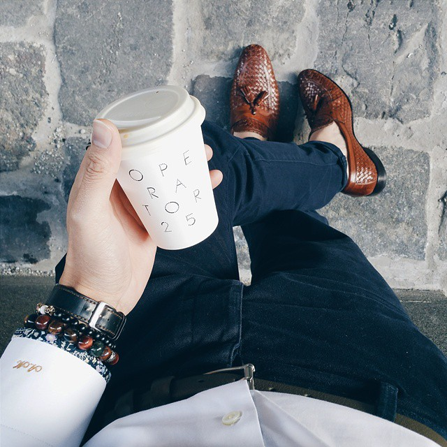 """Smooth Operator @operator25cafe . """"Dress Well. Drink Well. Live Well"""" . Where are you having coffee today? ."""