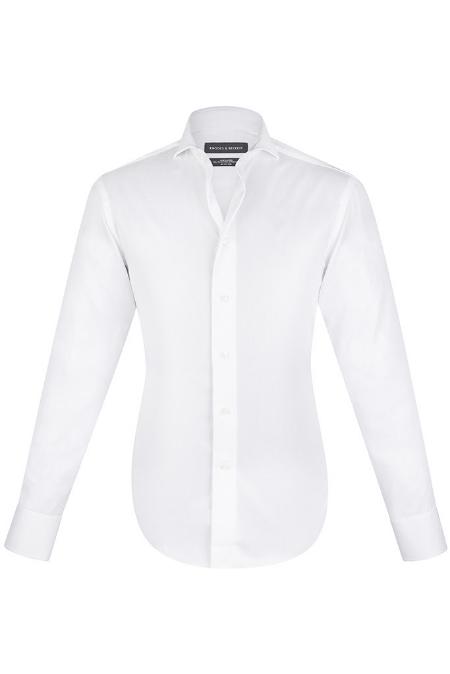 Rhodes & Beckett - White Fine Twill Shirt - $179