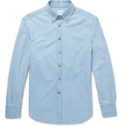 Brunello Cucinelli - Button down denim shirt - $450
