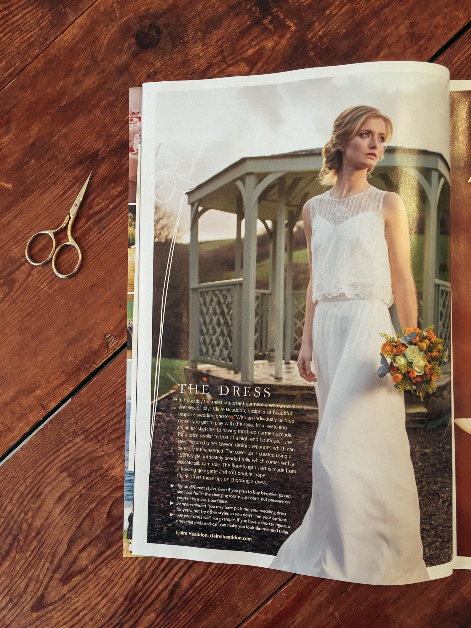 Cornwall Magazine Wedding Dress