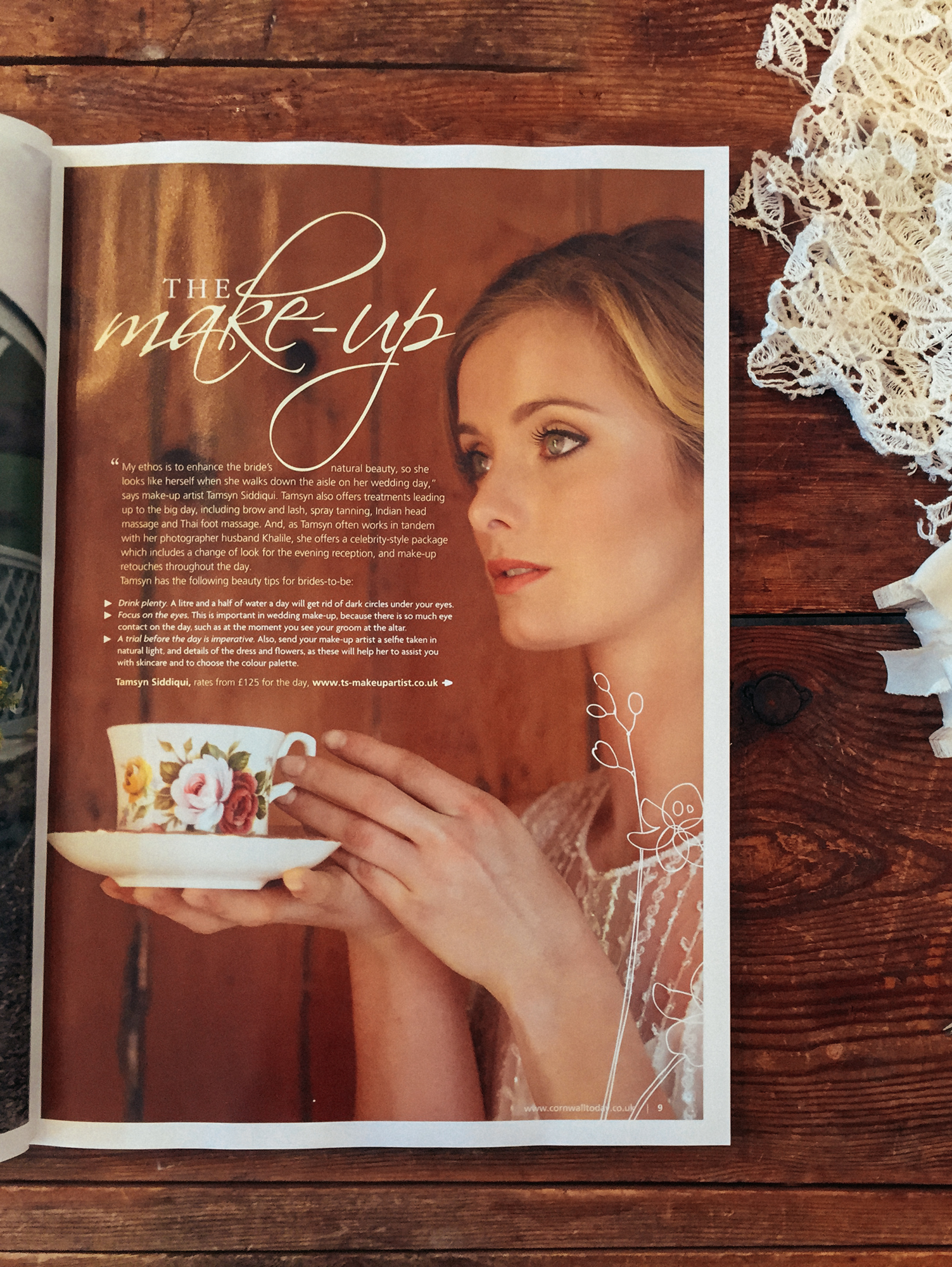 Wedding Make up Cornwall Magazine