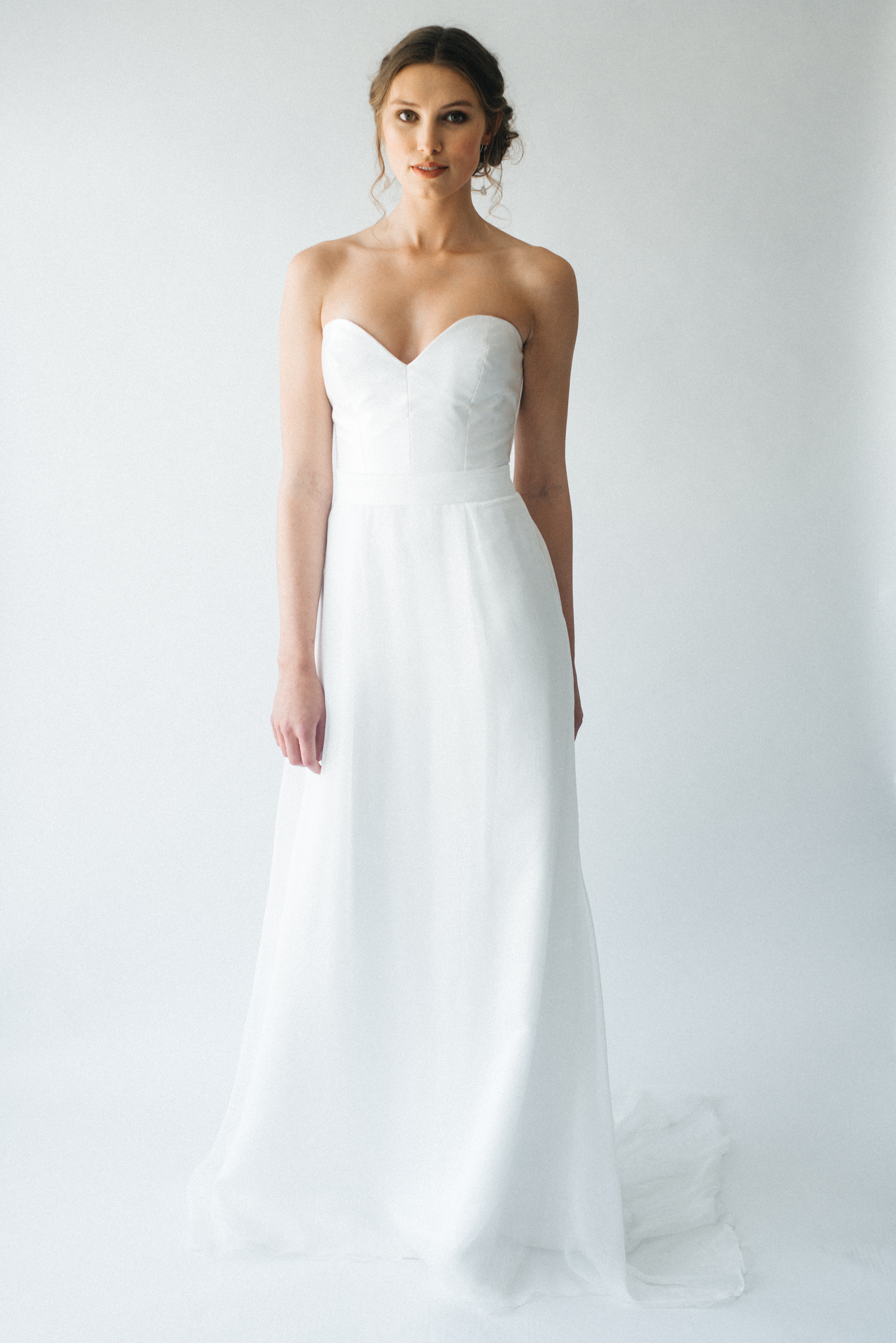 Gwith and Frosa silk wedding dress