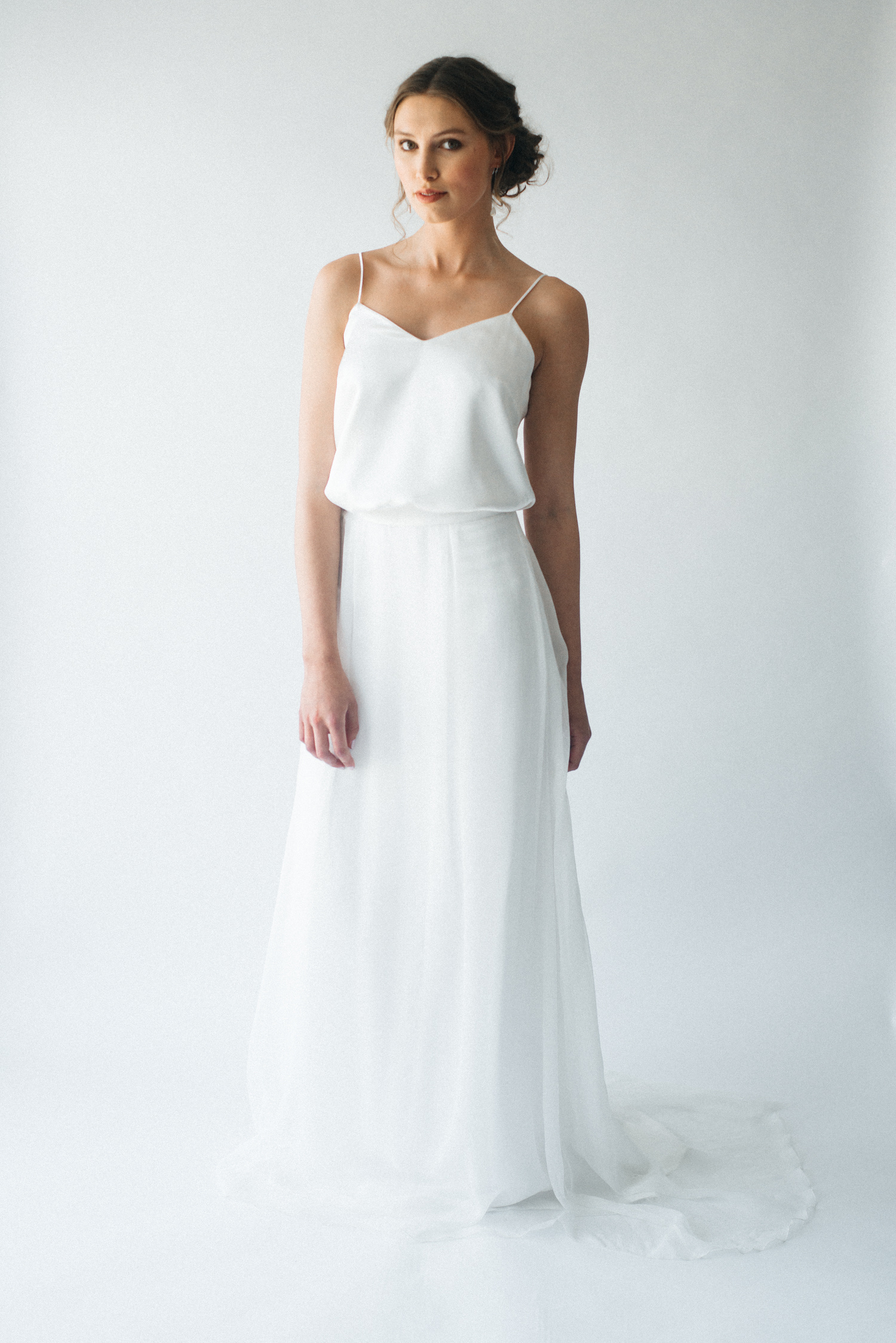 Huni and Frosa silk bridal separates