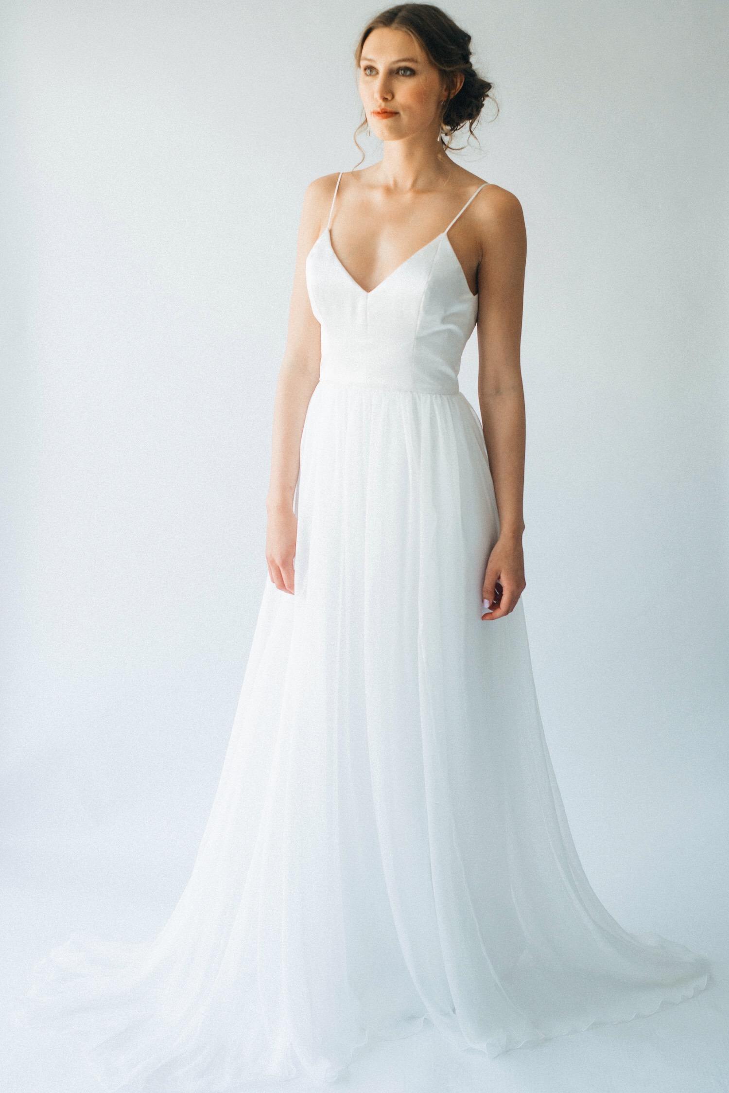 Bespoke handmade bridal gown Falmouth