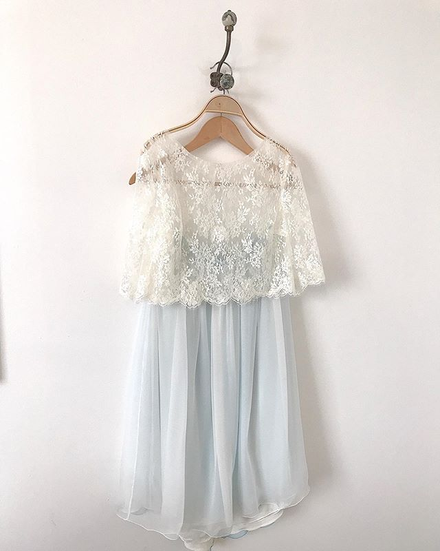 Natalie's bespoke blue silk skirt and 'Isel' lace top 🌿💙 I hope you had a wonderful wedding day on Saturday Natalie, I loved making your wedding separates for you xx