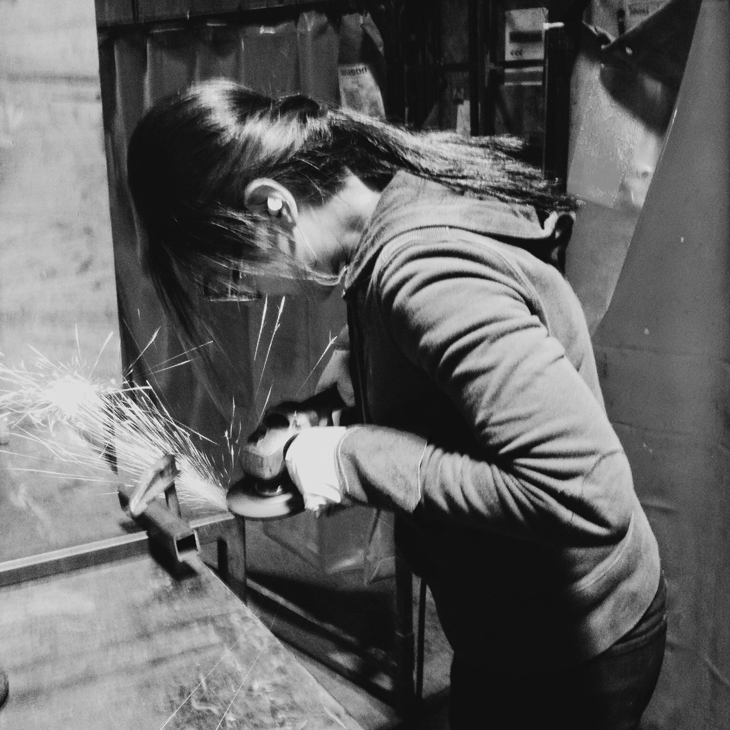 Evangeline Pesigan working on the Latag