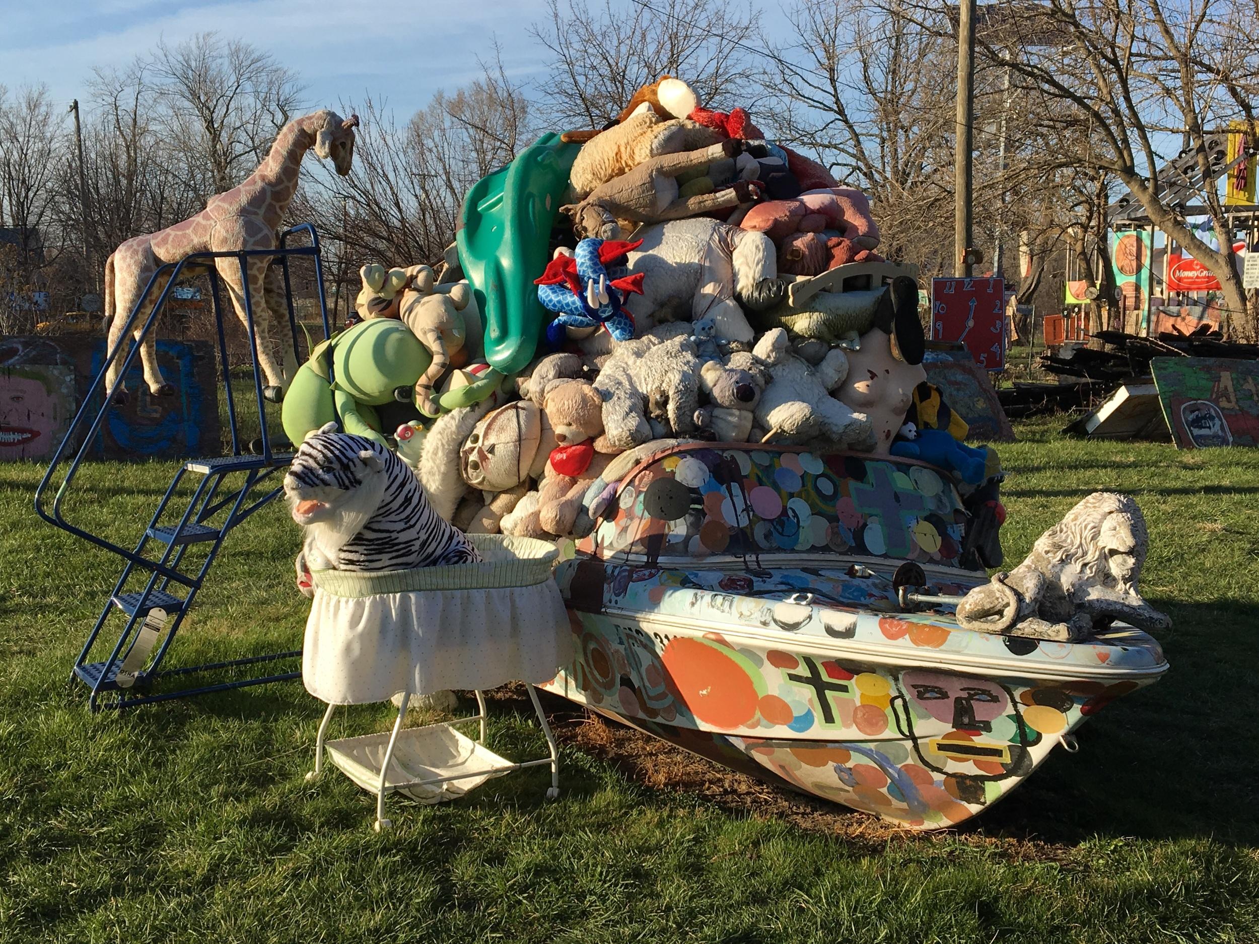 Heidelberg stuffed animal boat.