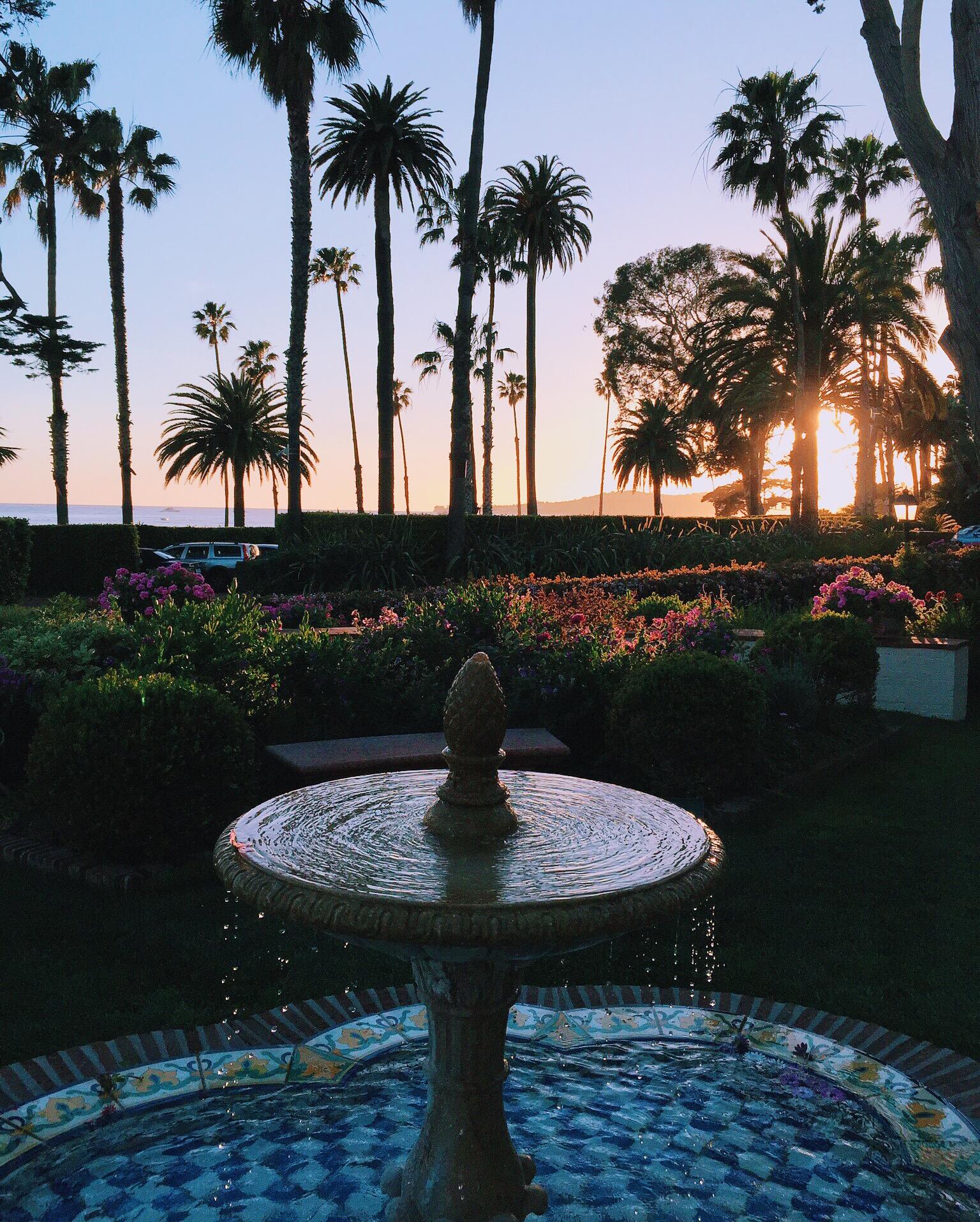 Four Seasons Resort The Biltmore Santa Barbara Fountain