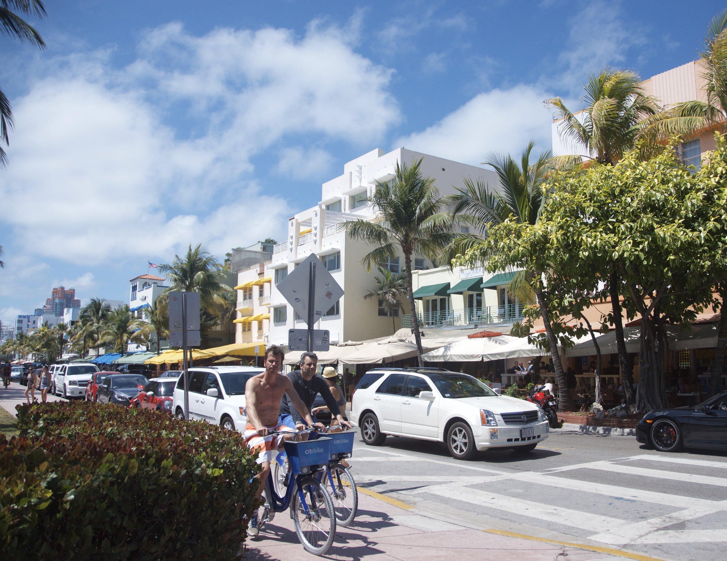 Biking around Ocean Drive