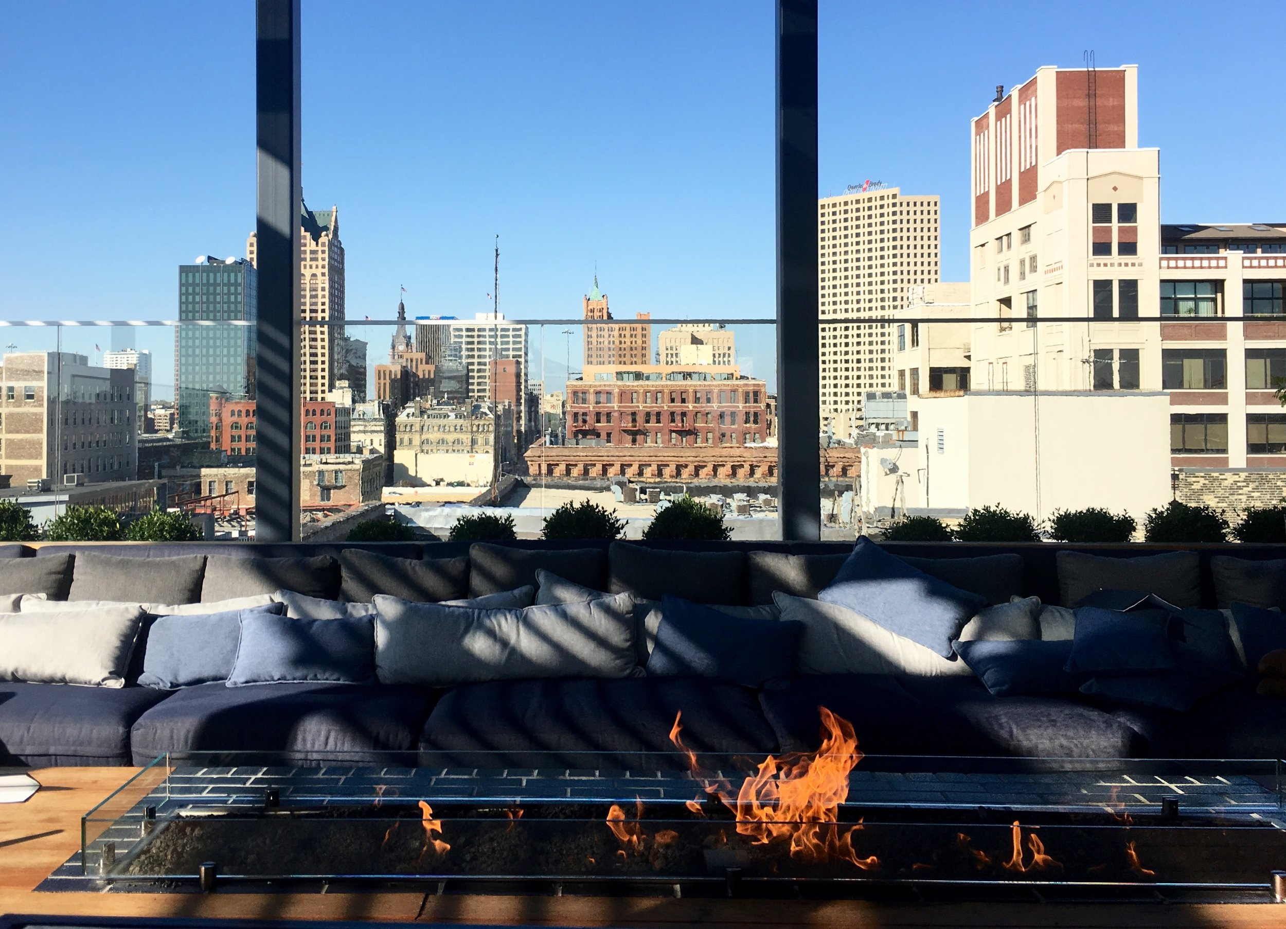 Rooftop of The Kimpton Journeyman Hotel