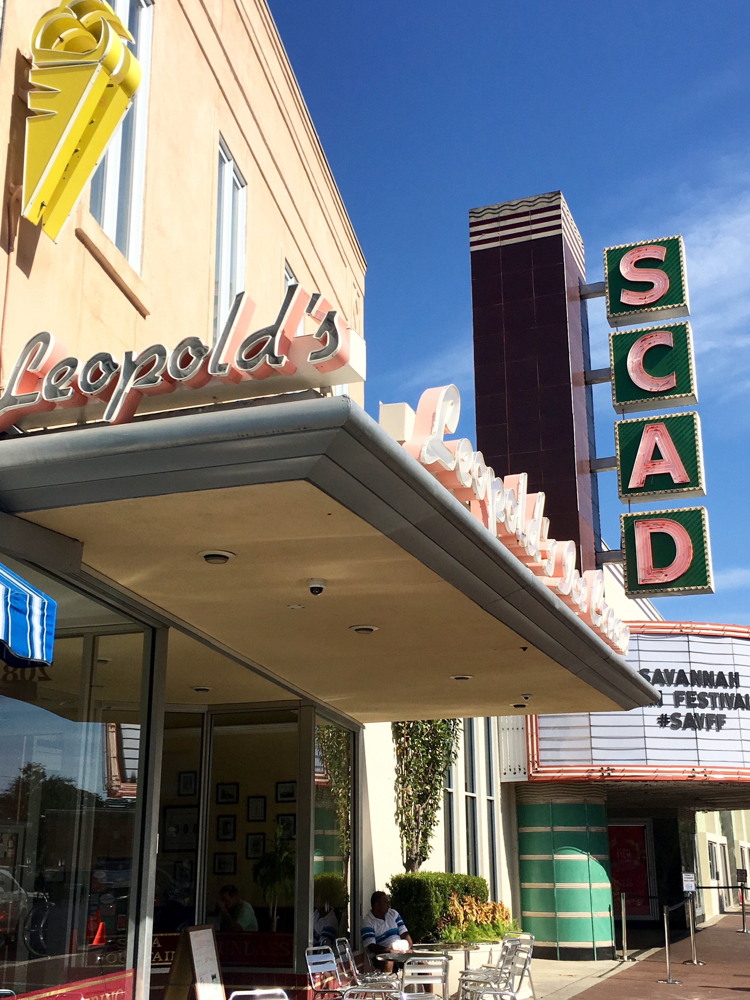 SCAD Theatre next to Leopold's Ice Cream