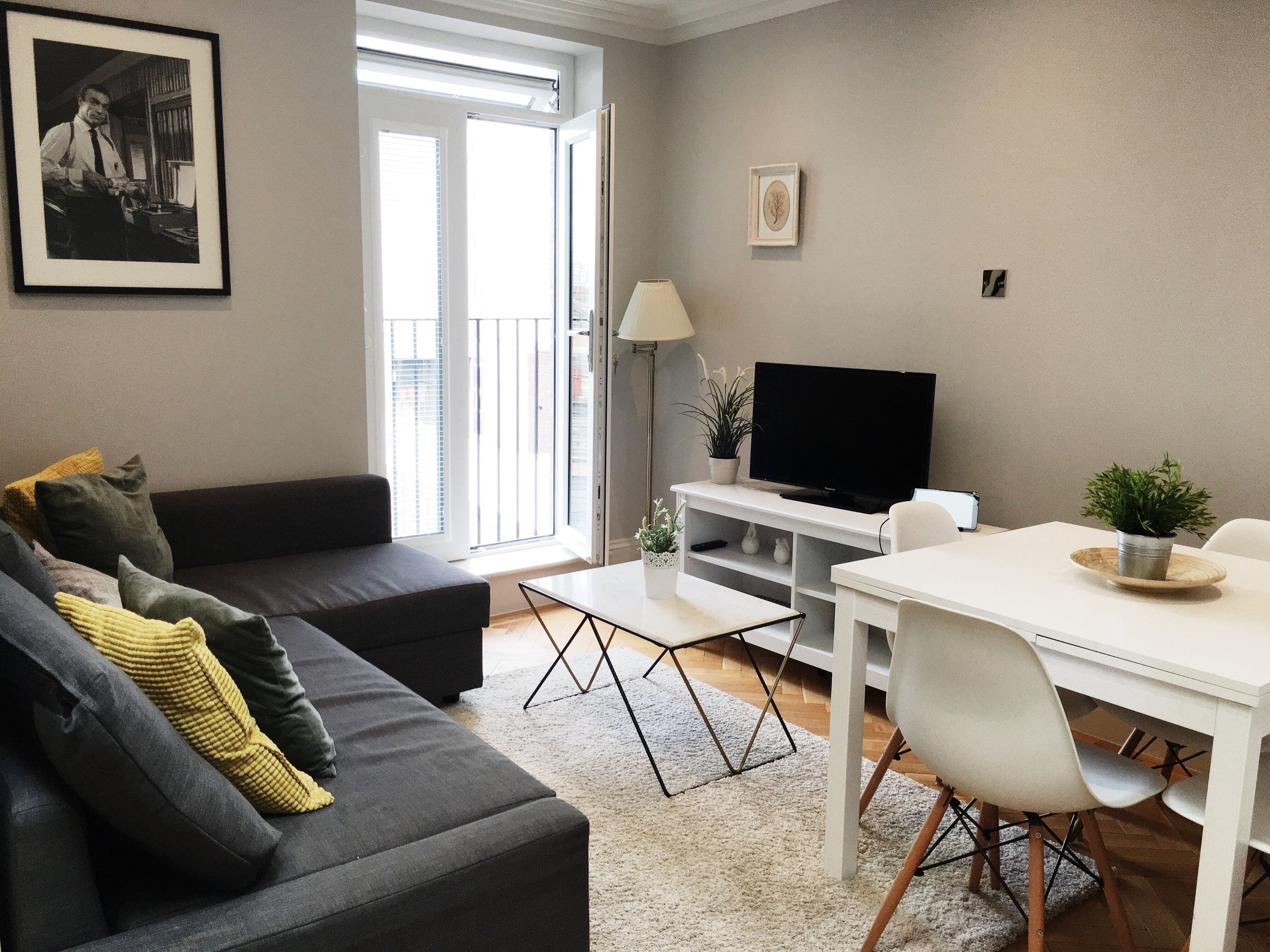Living room of my FG Properties apartment rental in London