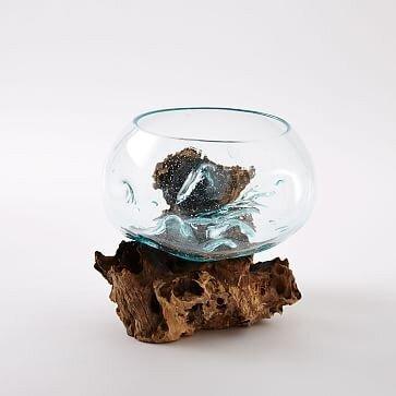 West Elm Wood + Glass Terrarium