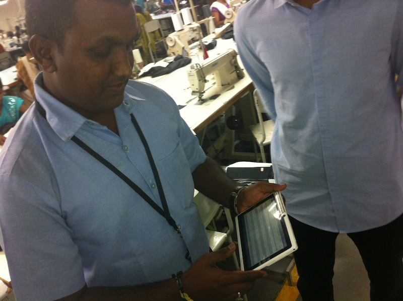 Production data being captured on the factory floor, enabling us to measure precise business impact of different CSR activity
