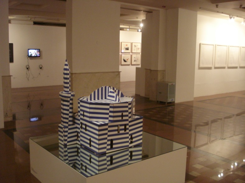 The exhibition in situ at the IGNCA