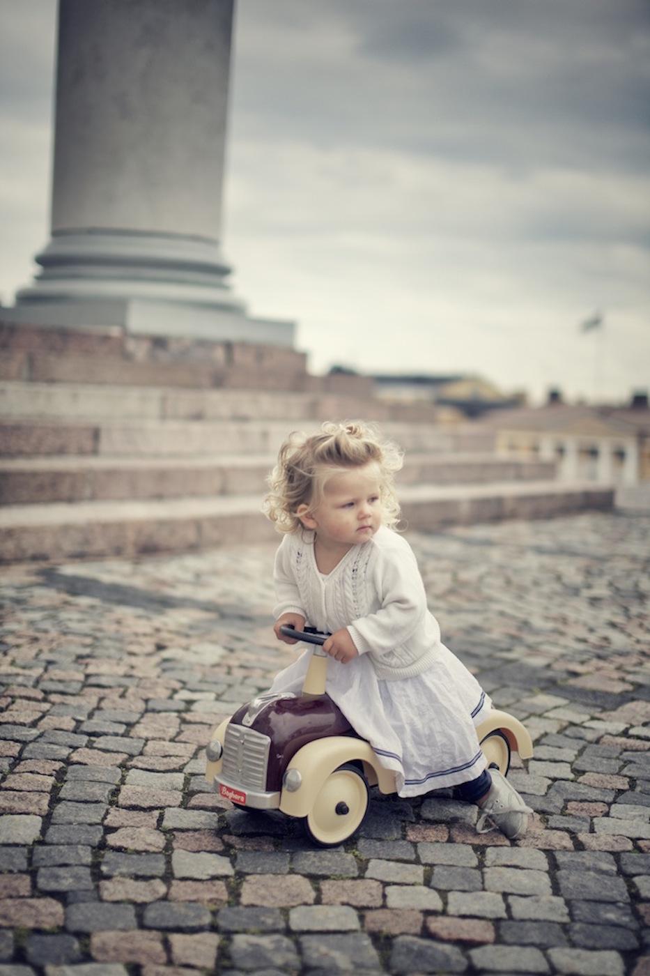 kid on wheels