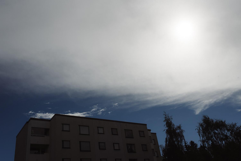 dark sky at noon