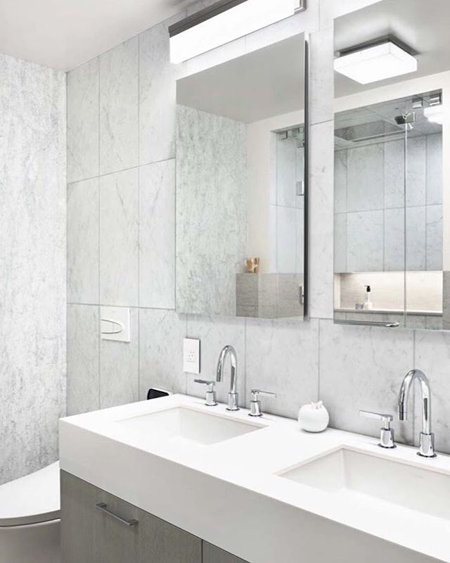 Our Battery Park Project.  Interior Design by Lorenzo Cota / Creative @lorenzocota / Architecture by J_spy / Photo by Amanda Kirkpatrick #masterbathroom @stonesourcellc @restoration.hardware #gray #texture