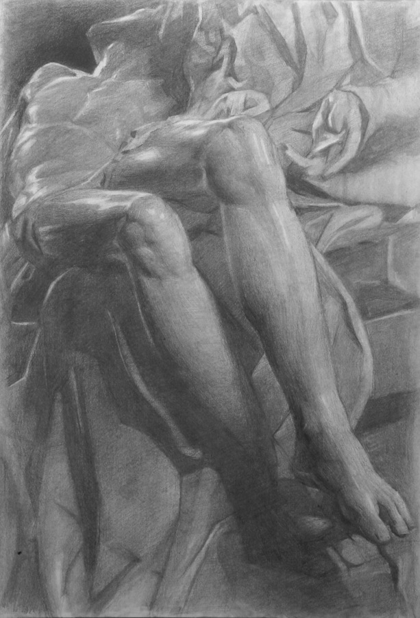 Study of a cast from Michelangelo's Pieta