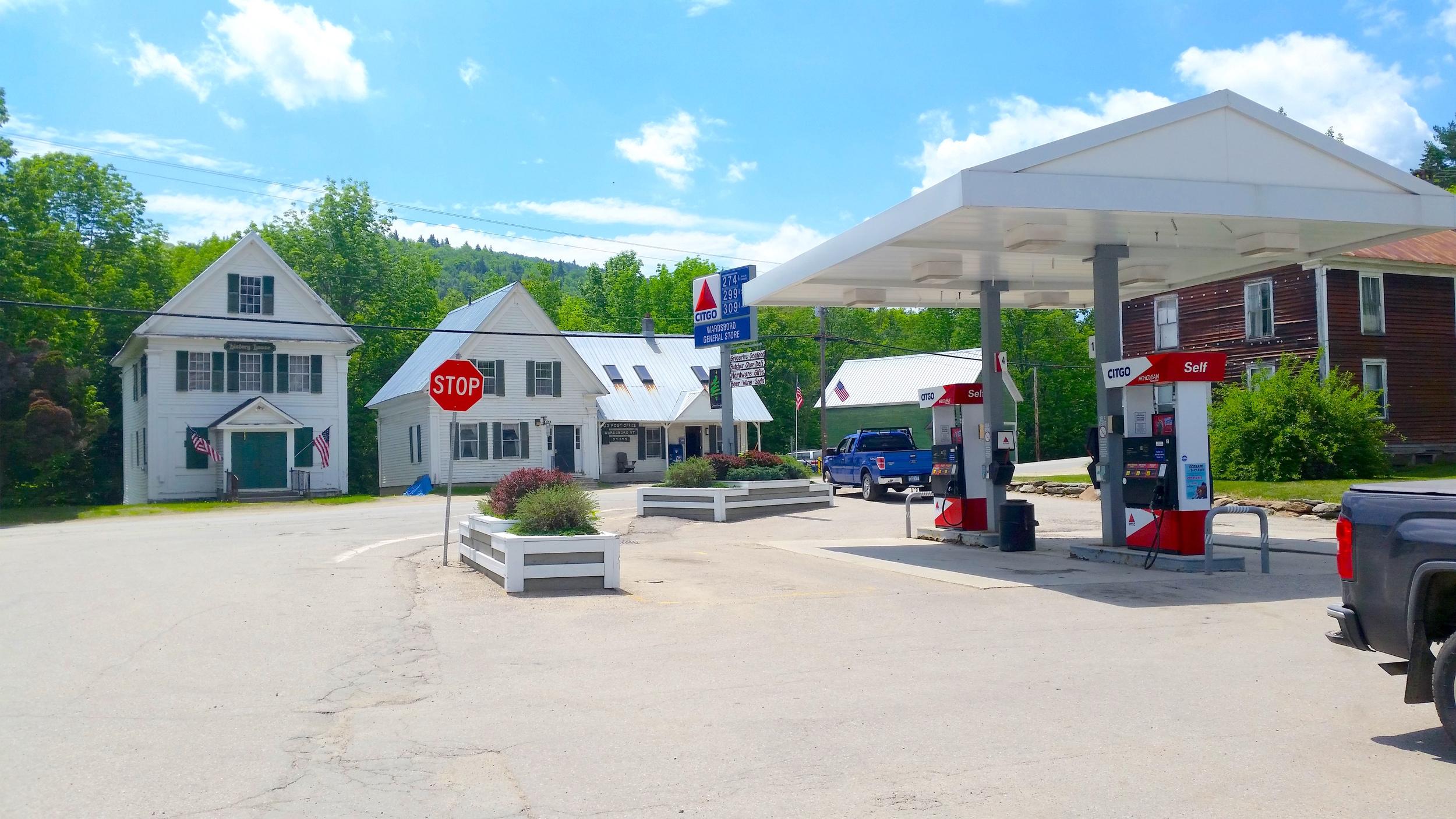 Gas Pumps & Parking Lot