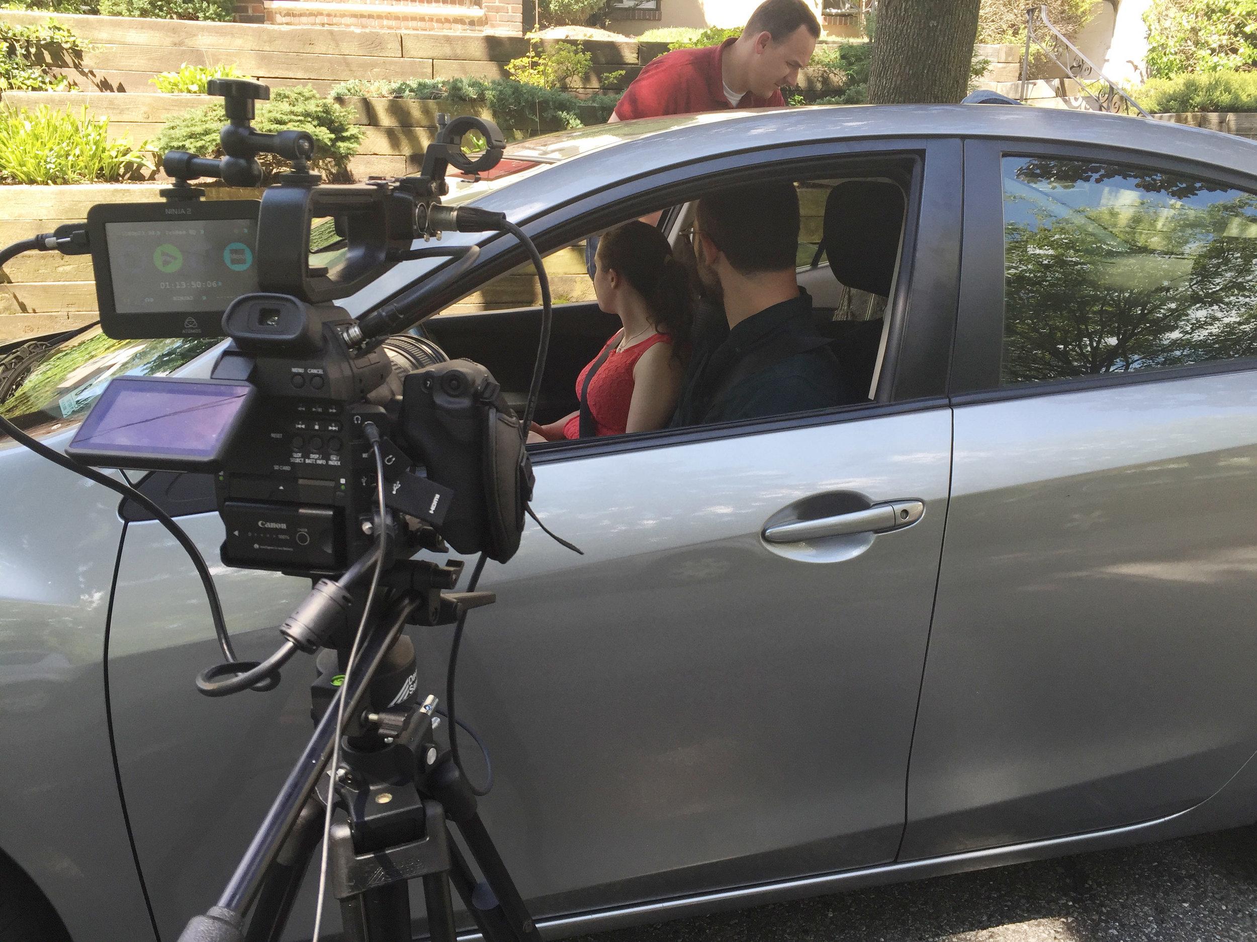 Getting the car shot
