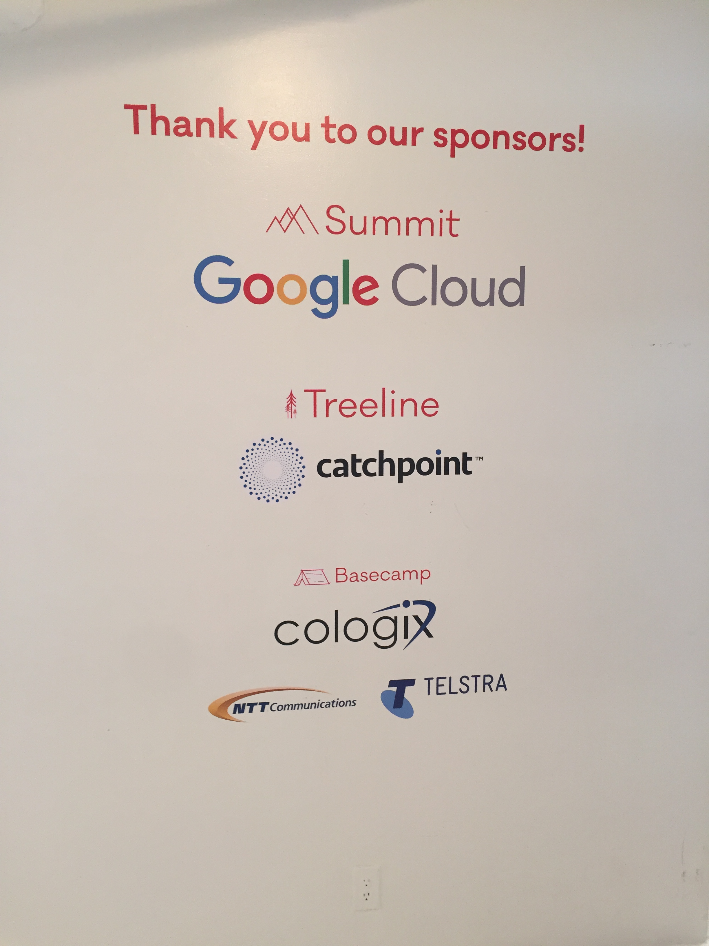 Proud sponsors of the Tech event