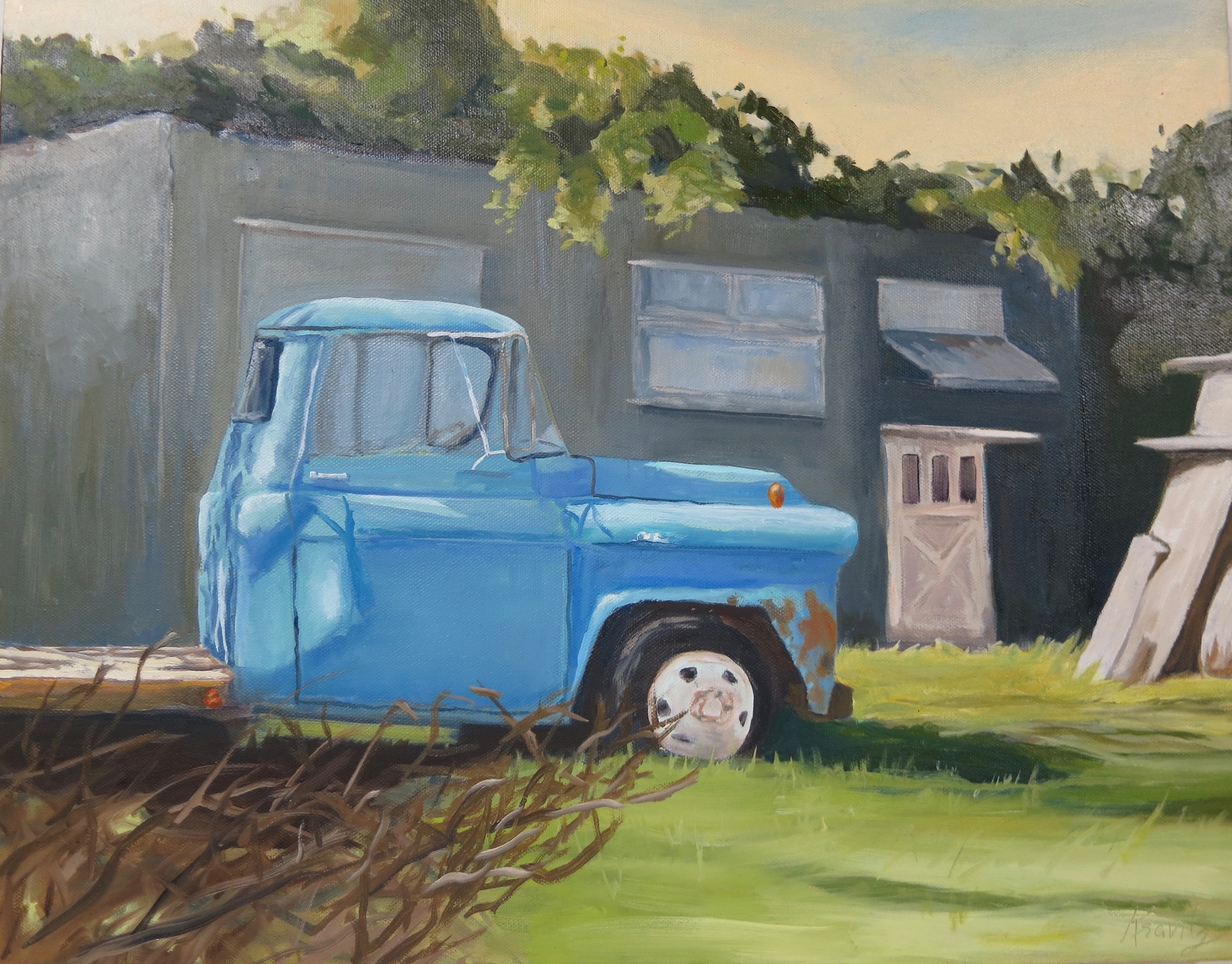 "Lynda Kravitz ""Blue Truck Gray Barn"""