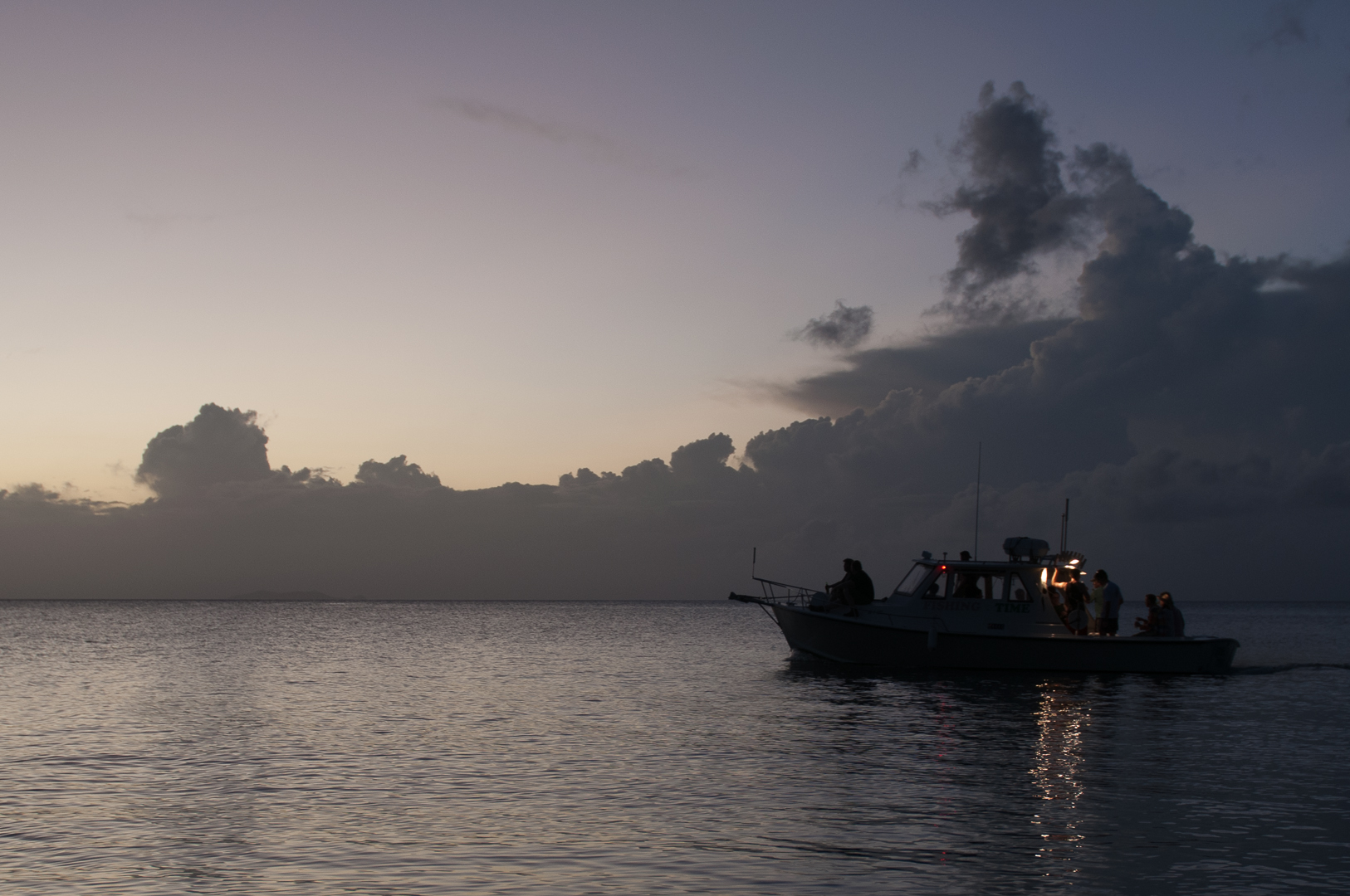 Sunset in Honduras, off the coast of Guanaja, where Art formed the  Direct Cacao  group with other makers