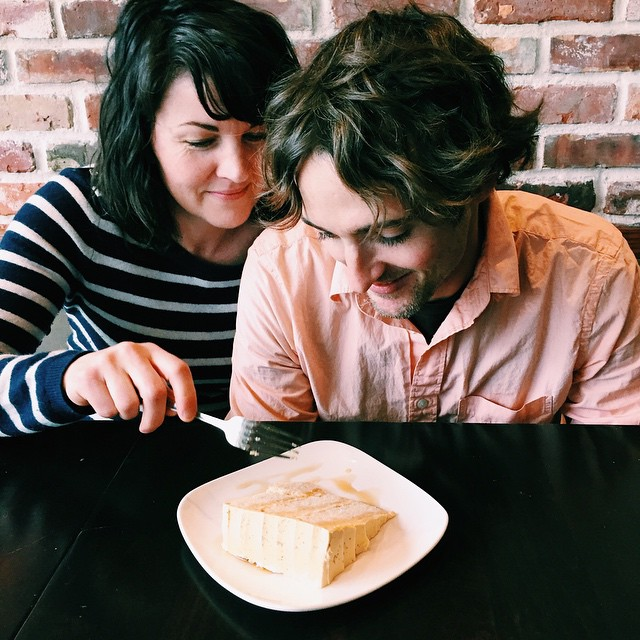 P.S. Dan and Jael eat things besides chocolate: Here they are being adorable with a piece of maple butter cake.