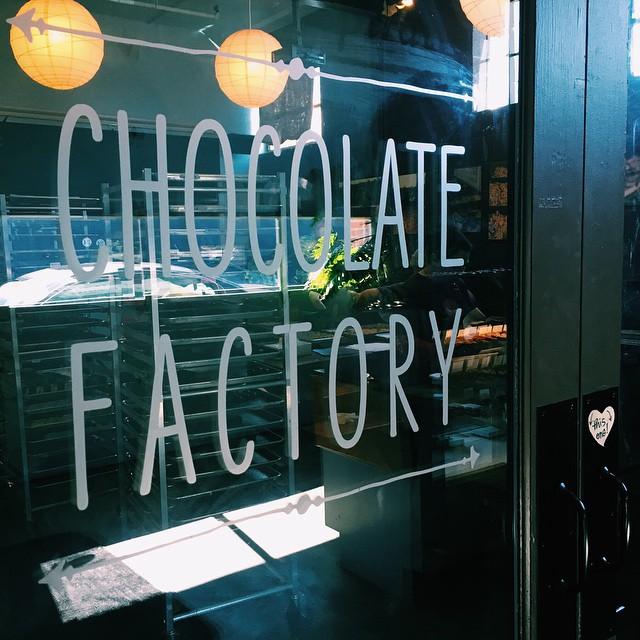 French Broad's factory door