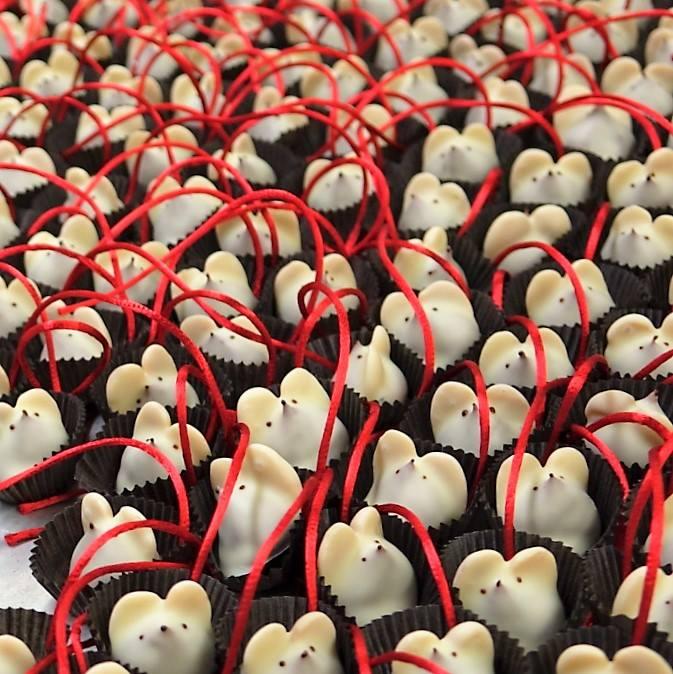 Chocolate mice from  L.A. Burdick in Manhattan