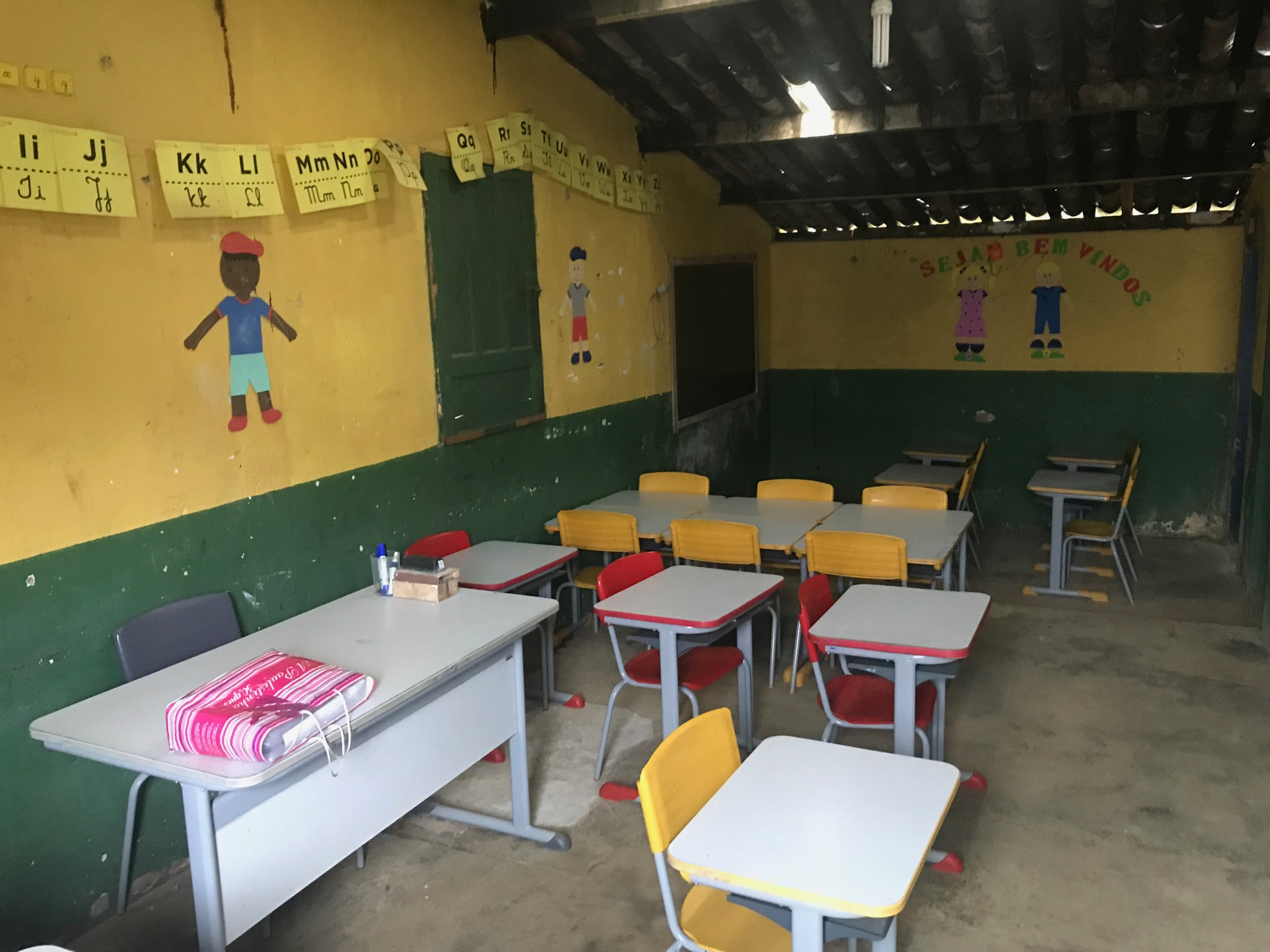 The schoolroom at Vale Potumuju, photo by Baiani Chocolate