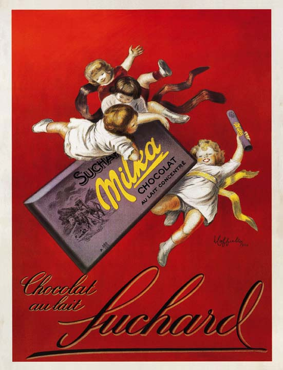 A vintage French advertisement for Suchard from sometime between 1890 and 1920