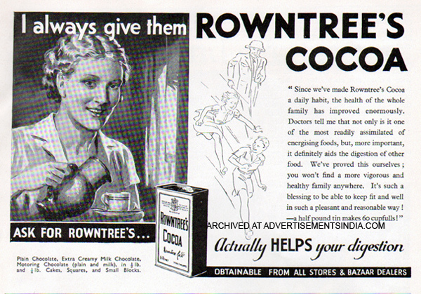 A 1930s advertisement for Rowntree's focusing on the family's health