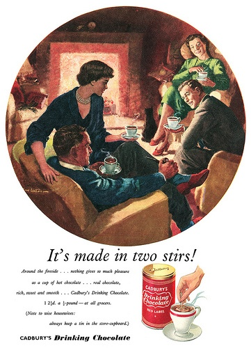 Another 1950s Cadbury ad with a completely different focus: the husband