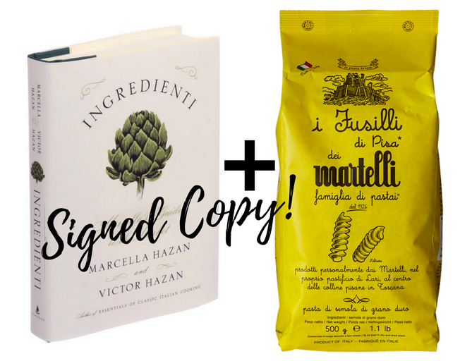 Win a signed copy + Pasta Martelli - Enter below to win a copy of Ingredienti signed by Victor Hazan and a package of Pasta Martelli, Victor and Marcella's favorite.