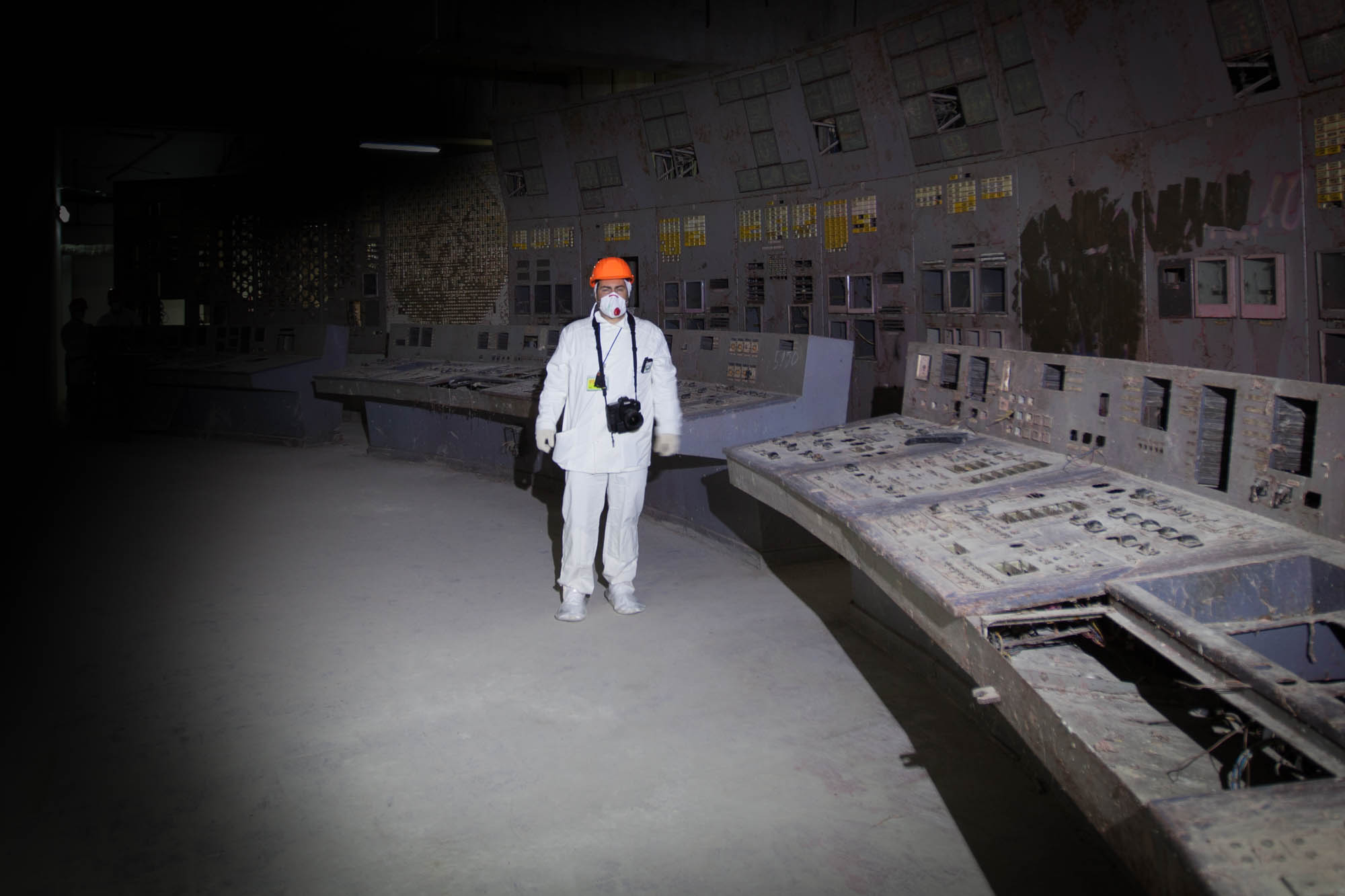 Standing in Chernobyl Reactor No. 4 Control Room