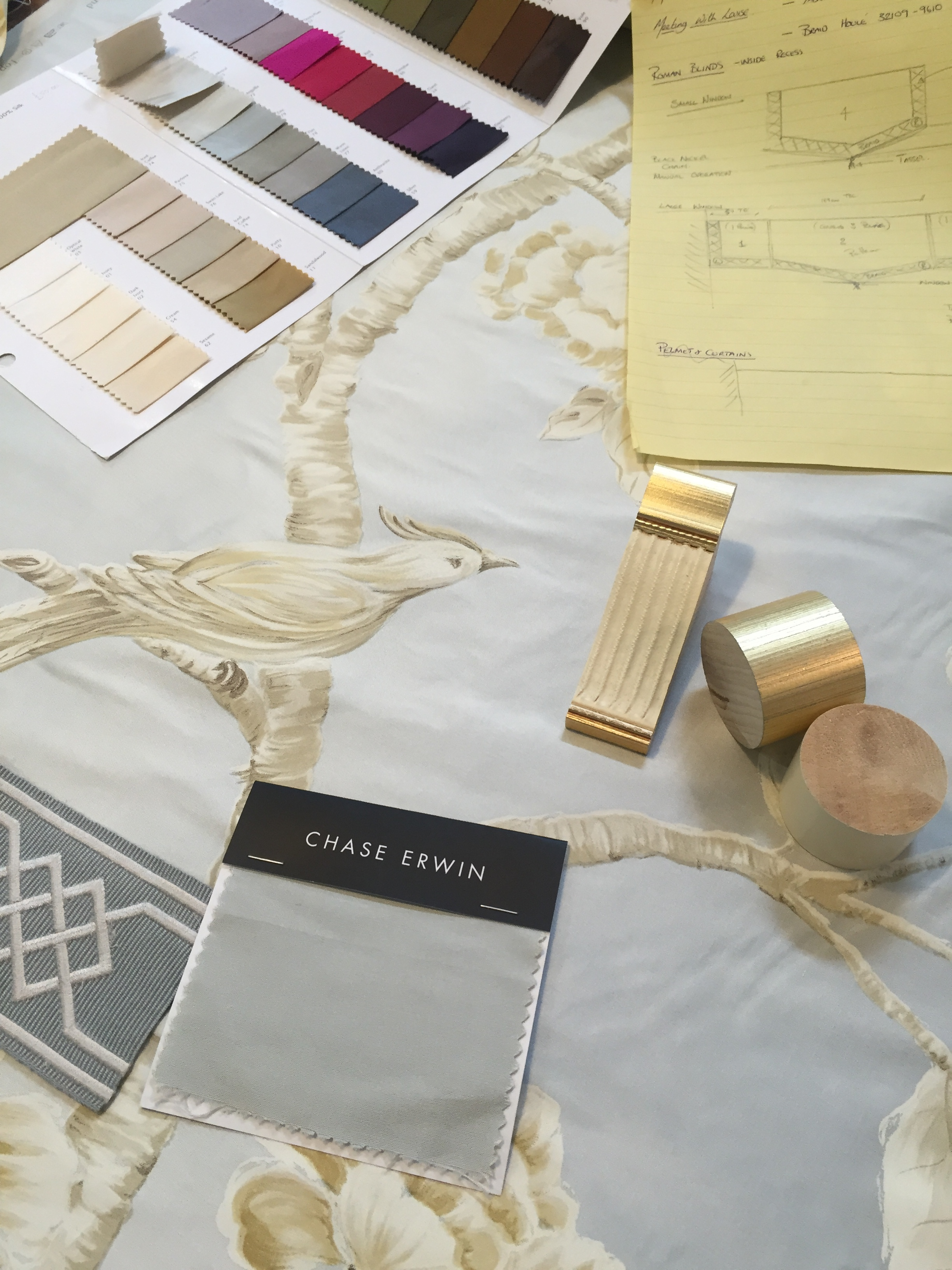 Bringing together the various components of an intricate window treatment design.